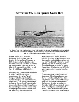 """This Day in History - November 2: The """"Spruce Goose"""" Takes Flight"""