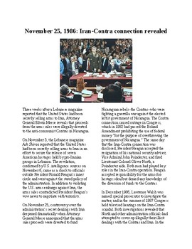 This Day in History - November 25: The Iran-Contra Affair Exposed (no prep/sub)