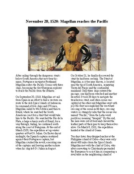 This Day in History - November 28: Magellan Reaches the Pacific (no prep/sub)