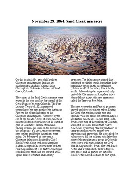 This Day in History - November 29: The Sand Creek Massacre (no prep/sub plan)