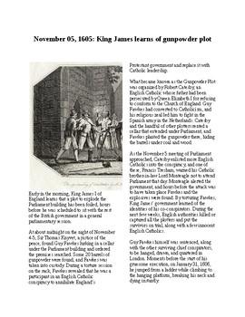 This Day in History - November 5: King James and the Gunpowder Plot (no prep)