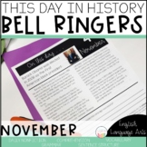 This Day in History November Bell Ringers   Daily Language   Morning Work