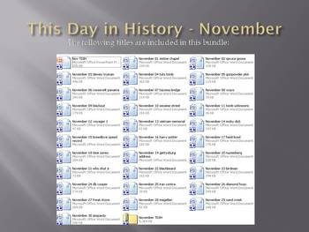 This Day in History - November Bundle (no prep/sub plans)