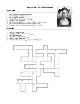 Original on christopher columbus worksheets