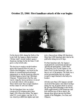 This Day in History - October 25: First Kamikaze Attack in WWII (no prep/sub)