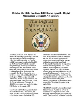 This Day in History - October 28: Digital Copyright Act Passed (no prep/sub plan