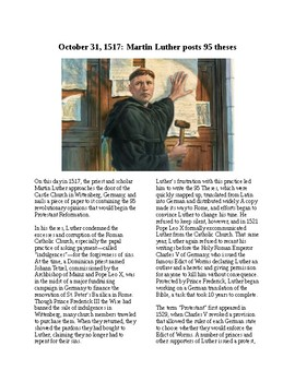 This Day in History - October 31: Martin Luther Delivers 95 Theses (no prep/sub)