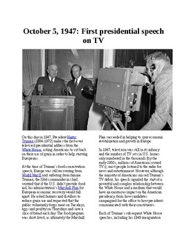 This Day in History - October 5: The first presidental speech on TV (no prep/sub
