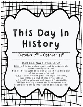 This Day in History: October 7th - October 11th