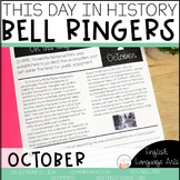 This Day in History October Bell Ringers   Daily Language   Morning Work