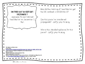 This Day in History Primary/Secondary Source Pack - December