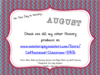 This Day in History QR Calendar-August