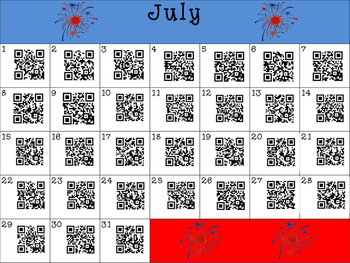 This Day in History QR Calendar-July