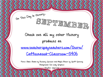 This Day in History QR Calendar-September