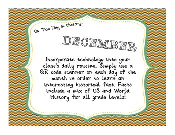 This Day in History QR Code Calendar - DECEMBER