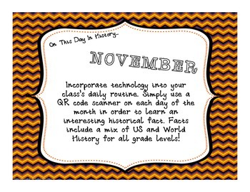 This Day in History QR Code Calendar - NOVEMBER