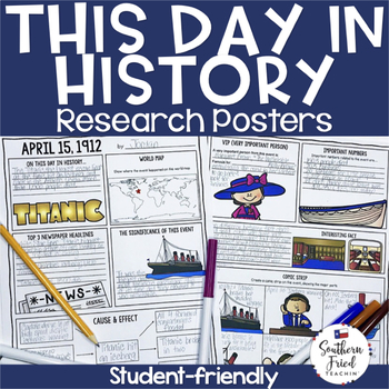 This Day in History Research Project Posters