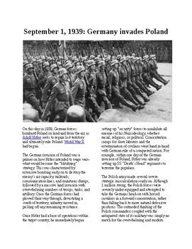 This Day in History - September 1: Germany invades Poland (no prep/sub plan)