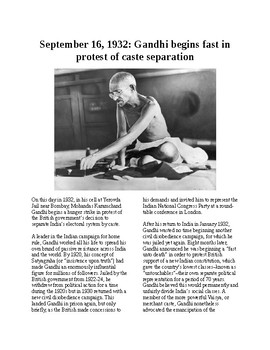 This Day in History - September 16: Gandhi fasting protest for caste elections