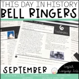 This Day in History September Bell Ringers   Daily Language   Morning Work