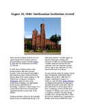 This Day in History - August 10: Smithsonian Institution created (no prep/sub)