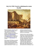 This Day in History - July 14: The Bastille is stormed (no prep/sub plans)
