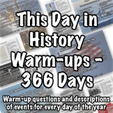 This Day in History Warm-ups Bundle