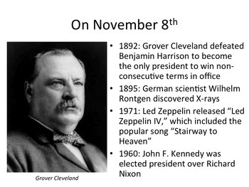 This Day in History Warm-ups for November