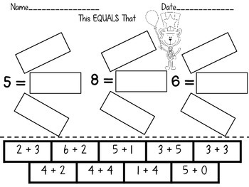 Using the Equal Sign Dr. Seuss
