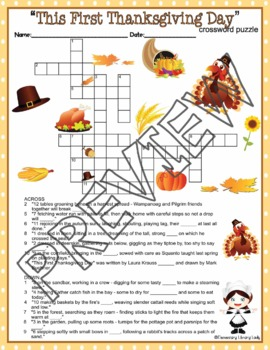 This First Thanksgiving Day Activities Melmed Crossword & Word Searches