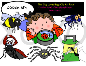 This Guy Loves Bugs Clipart Pack