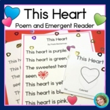 Valentines Day Emergent Reader and Poem | This Heart