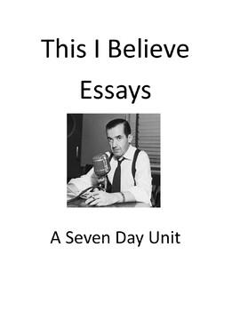 I believe essays