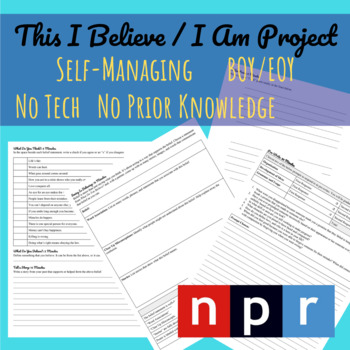 This I Believe/ I Am Project