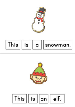 This Is A Christmas Cookie Easy Reader Patterned Sentences for Beginning Readers