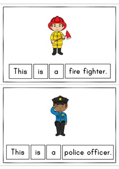 This Is A Community Helper Easy Reader Patterned Sentences for Beginning Readers