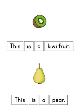 This Is A Fruit Easy Reader Patterned Sentences For Beginning Readers