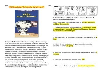 This Is America Charlie Brown: NASA Space Station (Video Guide)