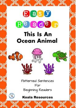 This Is An Ocean Animal Easy Reader Patterned Sentences for Beginner Readers