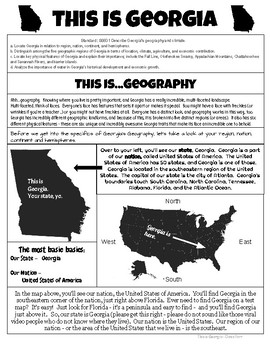 This Is Georgia - Geography - Georgia Studies GSE