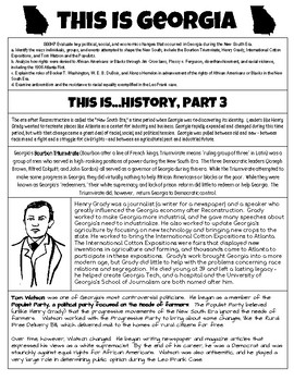 This Is Georgia - History, Part 3 - Georgia Studies GSE