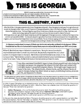 This Is Georgia - History, Part 4 - Georgia Studies GSE