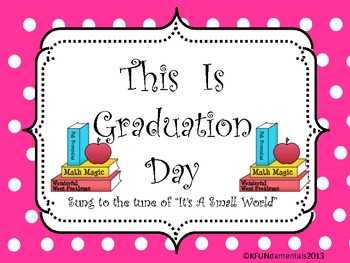 Kindergarten Graduation Day Song Words (tune of It's A Small World)