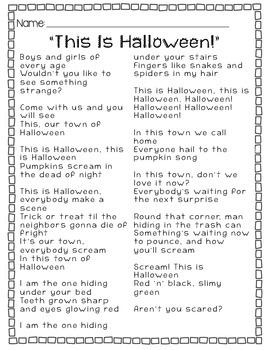 This Is Halloween: Similes & Metaphors