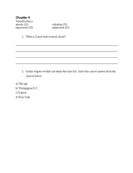 This Is Just A Test Guided Reading Packet/Book Study with Answer Key