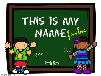 This Is My Name! Freebie