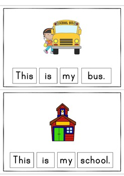 This Is My School Easy Reader Patterned Sentences for Beginning Readers