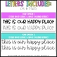 This Is Our Happy Place Bulletin Board Set