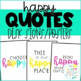 This Is Our Happy Place! Happy Quotes Desk Signs and Posters!