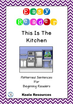 This Is The Kitchen Easy Reader Patterned Sentences For Be